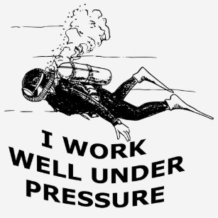 a50152830e I Work Well Under Pressure (Scuba Diving) T-Shirt
