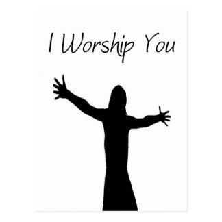 I Worship You Postcard