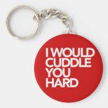 I Would Cuddle You Hard Basic Round Button Key Ring