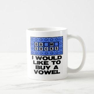 I would like to buy a vowel - Obama Sucks Basic White Mug