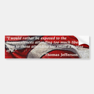 i-would-rather-be-exposed-jefferson-quote car bumper sticker
