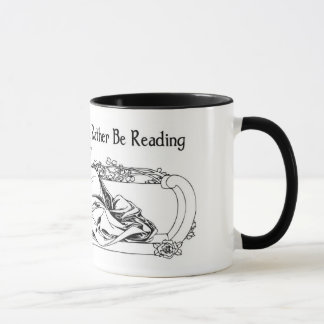 i would rather be reading bw version mug
