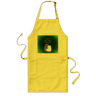 I would spend all nine lives with you two cats long apron