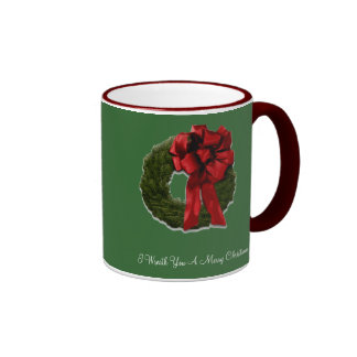 I Wreath You A Merry Christmas (green) Ringer Mug