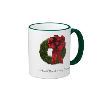 I Wreath You A Merry Christmas Ringer Mug