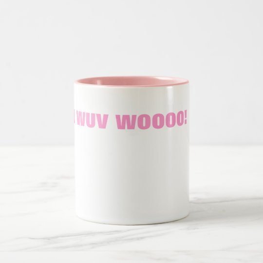 I WUV WOOOO! Two-Tone COFFEE MUG