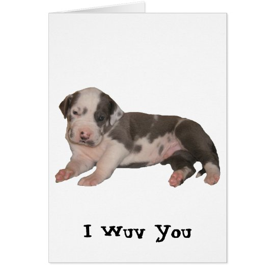 I Wuv You Card