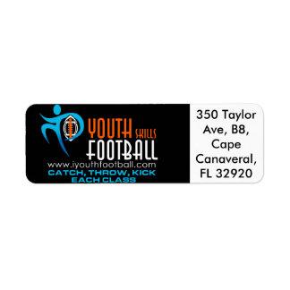 I Youth Football Return Address Label
