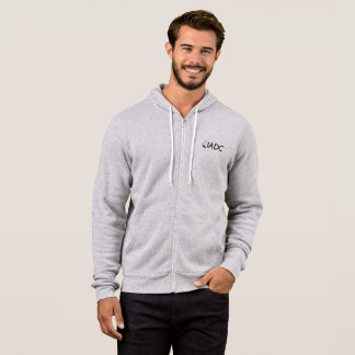 IADC Gray Zip Hoodie (Adult Mens/Womens)