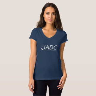 IADC Womens V-Neck T-Shirt - Navy