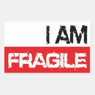 iamfragile rectangular sticker