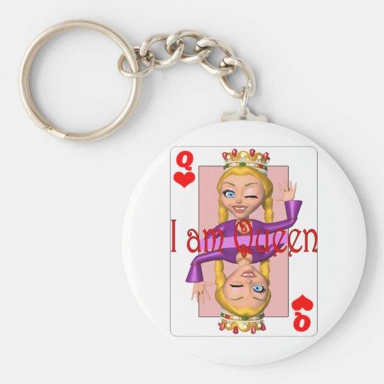 iamqueen basic round button key ring