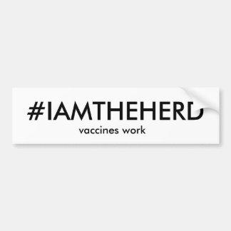 #IAMTHEHERD bumper sticker