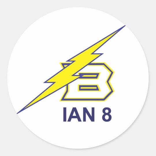 IAN 8 CLASSIC ROUND STICKER