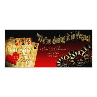 Ian & Bernice Las Vegas Deluxe Red Black Gold Card