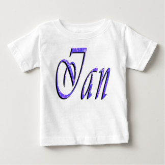Ian, Name, Logo, Baby White T-shirt