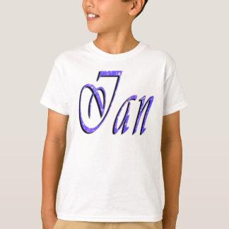 Ian, Name, Logo, Boys White T-shirt
