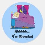 Ian Wakes Up Cover Sticker, Shhhhh... I'm Sleeping