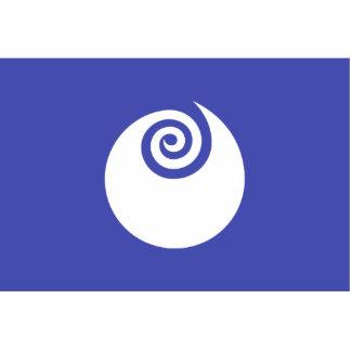 Ibaraki Prefecture, Japan flag Standing Photo Sculpture