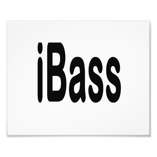 ibass music design black text photo print
