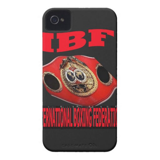 IBF Championship Boxing Belt With Background iPhone 4 Case-Mate Cases