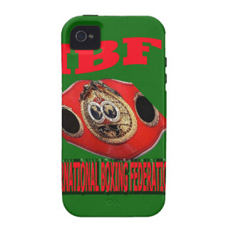 IBF Championship Boxing Belt With Background Green iPhone 4 Cases