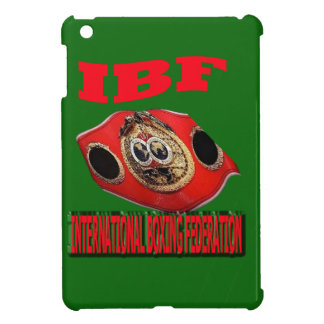 IBF Championship Boxing Belt With Background Green iPad Mini Cases