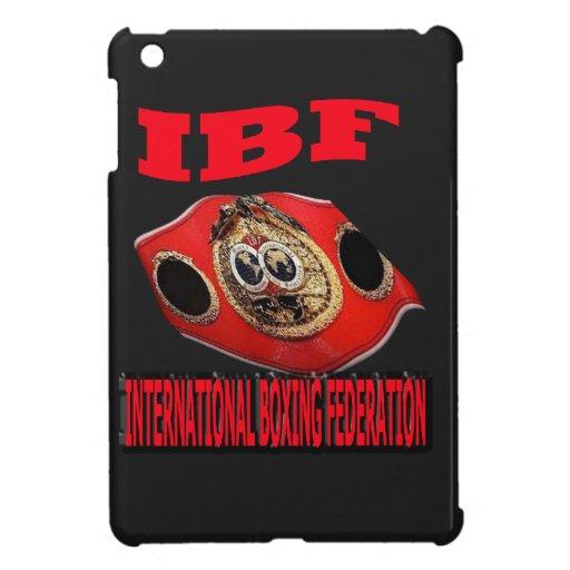 IBF Championship Boxing Belt With Background iPad Mini Case