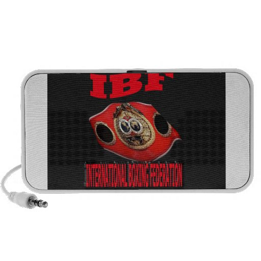 IBF Championship Boxing Belt With Background iPhone Speakers