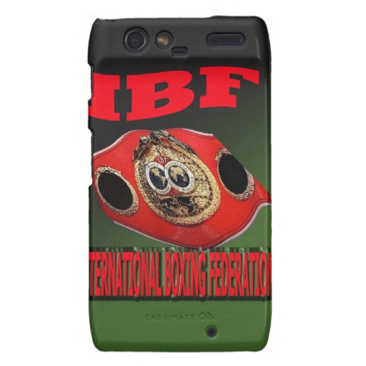 IBF Championship Boxing Belt With Etnic Background Motorola Droid RAZR Covers