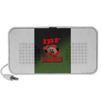 IBF Championship Boxing Belt With Etnic Background Mini Speakers