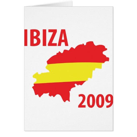 Ibiza 2009 greeting card