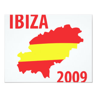 Ibiza 2009 11 cm x 14 cm invitation card