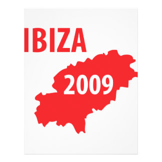 Ibiza 2009 symbol personalized flyer