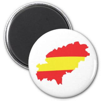 Ibiza contour flag icon 6 cm round magnet