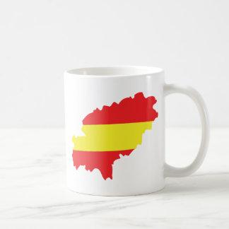 Ibiza contour flag icon mug