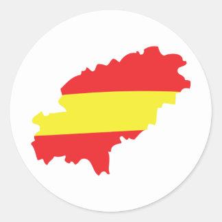 Ibiza contour flag icon stickers