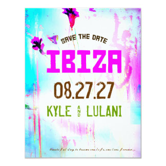 IBIZA Destination Save the Date 11 Cm X 14 Cm Invitation Card