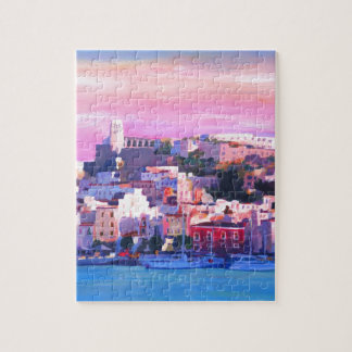 Ibiza Eivissa Old Town And Harbour Pearl Puzzle