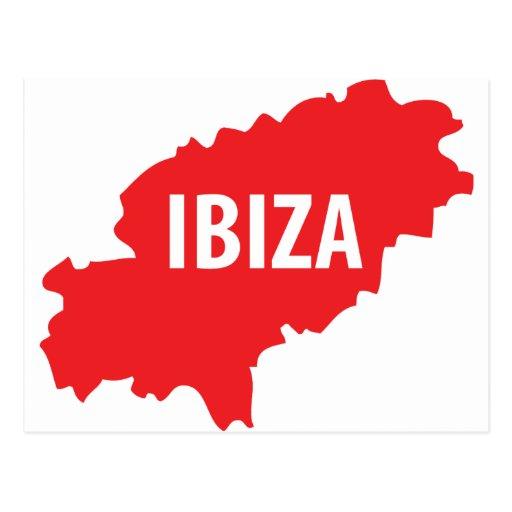 Ibiza icon post card