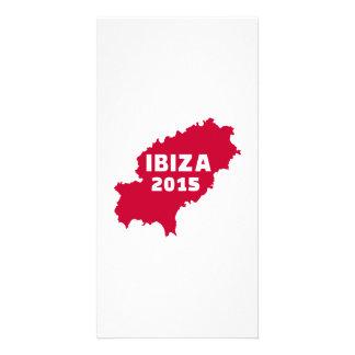 Ibiza map 2015 personalised photo card