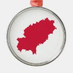 Ibiza map christmas tree ornament