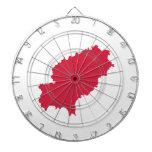 Ibiza map dartboard with darts