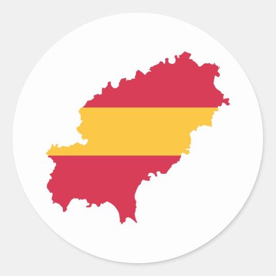 Ibiza map flag Spain Classic Round Sticker