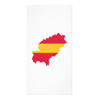 Ibiza map flag Spain Personalized Photo Card