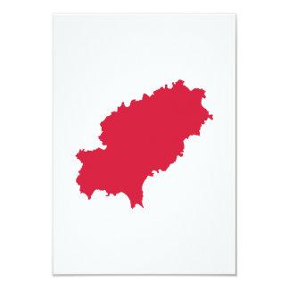 Ibiza map personalized invitations