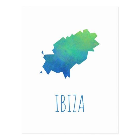 Ibiza Map Postcard