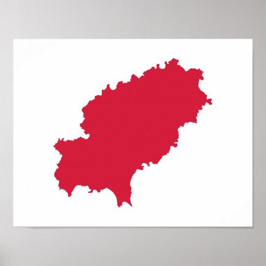 Ibiza map poster