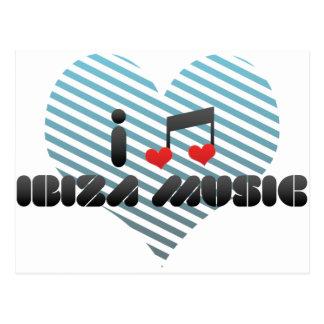 Ibiza Music fan Postcard