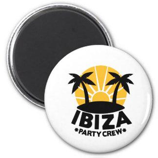 Ibiza Party Crew 6 Cm Round Magnet